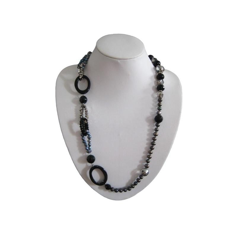 Pearls, Crystals and Gemstones Necklace